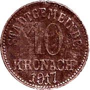 10 Pfennig (Kronach) – revers