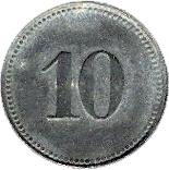 10 pfennig (Sonthofen) – revers