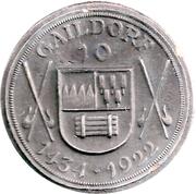 10 Mark (Gaildorf) [Oberamtsbezirk, Württemberg] – avers