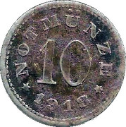 10 Pfennig (Schauenstein) [Private, Hessen-Nassau, H. Heye Glasfabrik] – revers