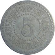 5 pfennig (P.O.W.monnaie de camp - Schneidemühl) – avers