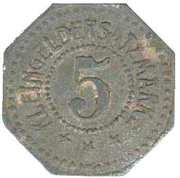 5 Pfennig [J.A. Mafei München) [Stadt, Bavaria] – revers