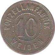 10 Pfennig (Weiden) [Private, Bavaria, Porzellanfabrik] – avers