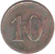 10 Pfennig (Weiden) [Private, Bavaria, Porzellanfabrik] – revers