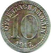 10 Pfennig (Offenbach am Main) [Stadt, Hessen] – avers