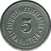5 pfennig - Traunstein (Zivilgefangenenlager) – avers