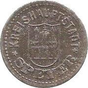 10 Pfennig (Speyer) [Kreishauptstadt, Rheinpfalz] – avers