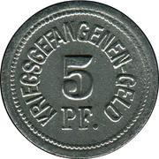 5 pfennig - Traunstein (Zivilgefangenenlager) – revers