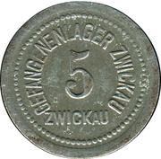 5 Pfennig (Zwickau) [POW, Sachsen] – avers