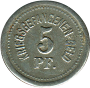 5 Pfennig (Zwickau) [POW, Sachsen] – revers