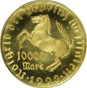 10 000 marks (Westfalen; Freiherr v. Stein) – avers