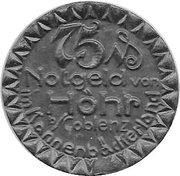 75 Pfennig (Hohr) [Stadt, Hessen-Nassau] – avers