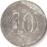 10 Pfennig Offizier Gefangenenlager (Neisse) – revers