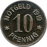 10 PFENNIG (BINGEN) – revers