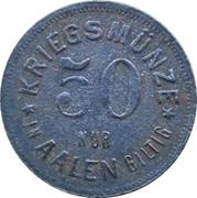 50 Pfennig (Aalen) [Stadt, Württemberg] – revers