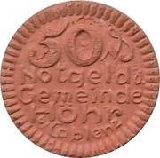 50 Pfennig (Hohr) [Stadt, Hesseh-Nassau] – avers