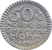 50 Pfennig (Hohr) [Stadt, Hessen-Nassau] – avers