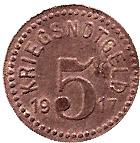5 Pfennig (Lambrecht) [Stadt, Pfalz] – revers