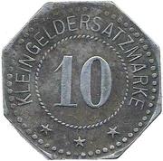 10 pfennig (Nordhausen a/H.) – revers