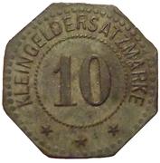 10 pfennig (Flensburg) – revers