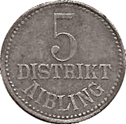 5 Pfennig Aibling [Distrikt, Bayern] – avers