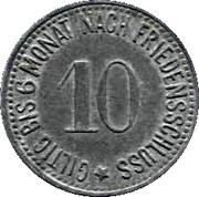 10 Pfennig (Hammelburg) – revers