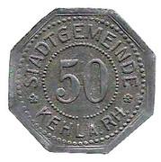 50 Pfennig (Kehl am Rhein) [Stadt, Baden] – avers