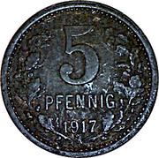 5 Pfennig (Bonn-Siegkreis) – revers