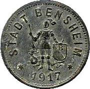 50 pfennig (Bensheim) – avers