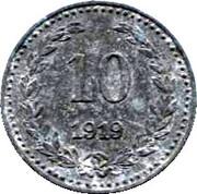 10 Pfennig (Bromberg) – revers