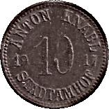 10 Pfennig (Stadtamhof) [Private, Bayern, Anton Knabel] – avers