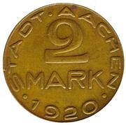 2 Mark (Aachen) – avers