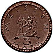 3 Mark (Meissen) [Stadt, Sachsen] – revers
