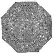 10 Pfennig (Freden am Leine) [Private, Hannover, Glasfabrik Schildhorst] – avers