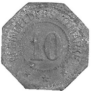 10 Pfennig (Freden am Leine) [Private, Hannover, Glasfabrik Schildhorst] – revers