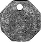 5 pfennig  (Tonning) [Stadt, Schleswig-Holstein) – revers