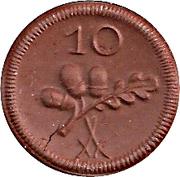 10 Pfennig (Münsterberg) [Stadt, Schlesien] – revers