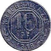 10 pfennig (Welzheim) – revers