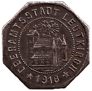 50 Pfennig (Leutkirch) [Oberamtsstadt, Württemberg] – avers