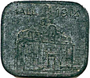50 Pfennig  - Hall notgeld 1918 zinc (rectangular) – avers