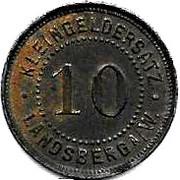 10 Pfennig (Landsberg an der Warthe)[Stadt, Brandenberg] – avers