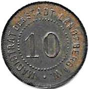 10 Pfennig (Landsberg an der Warthe)[Stadt, Brandenberg] – revers