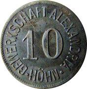 10 Pfennig (Höhn) [Private, Gewerkschaft Alexandria] – avers