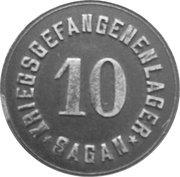 10 Pfennig (Sagan) [POW, Silesia] – avers