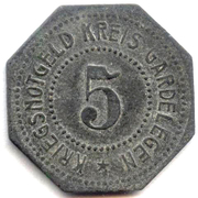 5 Pfennig (Gardelegen) – revers