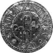 50 Pfennig (Melsungen) [Stadt, Hessen-Nassau] – avers