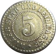 5 Pfennig (Wyk) [Spar- und Leihkasse, Schleswig-Holstein] – avers