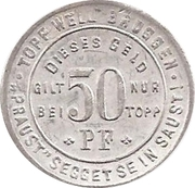 50 Pfennig (Soest) [Private, Topp] – revers