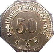 50 Pfennig (Pinneberg) [Private, Schleswig-Holstein, Pinneberger Bank] – revers