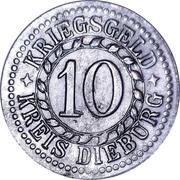 10 Pfennig (Dieburg) [Kreis, Hessen] – revers